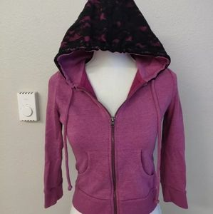 Material girl pink lace hoodie size small